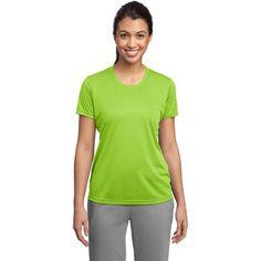 Sport-Tek Women's Lime Shock PosiCharge Competitor Tee