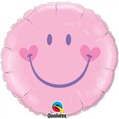 """Φοιλ 18"""" Στρογγυλό Sweet Smile Face Pink"""