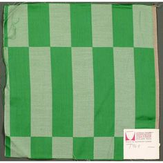 Milldamask - Damask with geometric patterning in green and white. Number 1969
