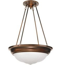 "Park Avenue Large Classic Bowl-Shade Chandelier  $1035 / Oil Rubbed Bronze / 48"" (living room)"