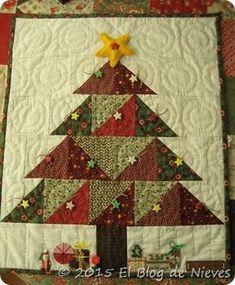 Arbol de Navidad Patchwork Quilting Christmas noel navidad