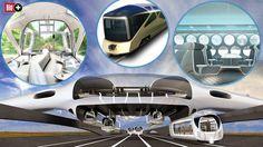 """TEIL 2 DER BILD-SERIE """"LUXUS AUF SCHIENEN"""" Fahren uns diese Züge mit Vollgas in die Zukunft? ► So stellen sich Architekten und Designer die Zukunft des Bahnfahrens vor"""