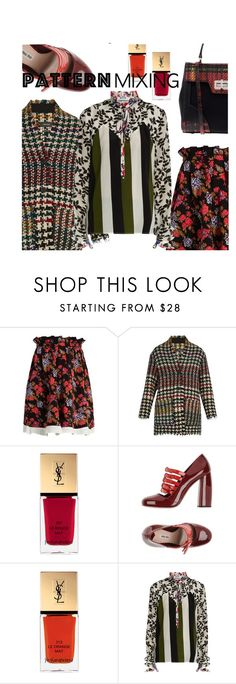 """2016 pattern mixing"" by vaughnroyal ❤ liked on Polyvore featuring MSGM, Isabel Marant, Miu Miu and Prada"
