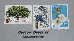 Reserved Custom Order for pjassim .. Unused Vintage Postage Stamps by TreasureFox on Etsy