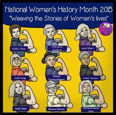 National Women of History 2015 & Rosie the Riveter clip art! | @resourceforce