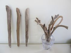 3 Straight & Slender Driftwood Sticks For Woven Wall Hanging Drift Wood Branches Wind Chime Driftwood Boho Decor by LonelyBeach on Etsy