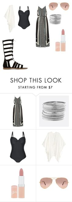 """my moms outfit"" by chrissyalyse ❤ liked on Polyvore featuring River Island, Avenue, Rimmel, Ray-Ban and Dune"