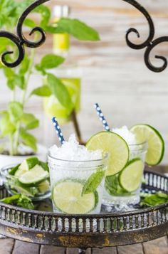Italian Mojitos made with fresh basil, lime juice, and of course vodka! Cheers! Mojitos. There's just something about mojitos. The fresh mint, zing of the lime juice, and sweet after...