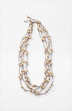 this looks like it would be simple to make...  acai beads necklace at J.Jill