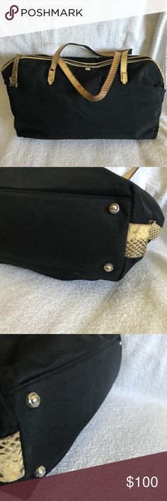 """Vintage Kate Spade Nylon Tote Handbag Super light weight Vintage Kate Spade Handbag with TONS of room for your stuff! Signs of wear on the straps. Kate Spade dustbag included. Size: 17"""" x 9 1/2""""  Armdrop approx: 5 1/2"""" ***NO TRADES***NO PAYPAL***PRICE NON NEGOTIABLE kate spade Bags Satchels"""