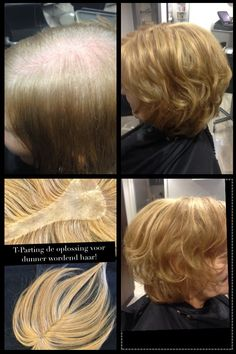 Haarwerk T-Parting  De mooiste oplossing voor dunner wordend haar. Haircontrast Nederland