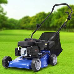 """Lawn Mower 17"""" Petrol Powered Hand Push Engine Lawnmower Catch 4Stroke  Only AUD$331.10!   Our Lawn Mover is all about getting your mowing done efficiently and conveniently with minimum hassle. With its 4-stroke air-cooled 139cc OHV motor, the lawn mower pumps out ample cutting power to make light work of your mowing chores. The mower comes with seven height adjustments for the perfect cut from its large 40cm cutting width. Plus, its 2-in-1 capability features a large 40L catcher bag a"""