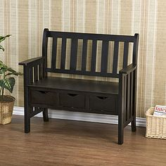 great little entry bench. perfect for gloves and other things you drop at the door.