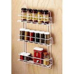 Wire Spice Racks from The Container Store.  I want a couple of these to use in my bathroom as nail polish holders!  Only $4