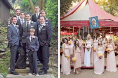 Love the bridal pics in front of merry go around.