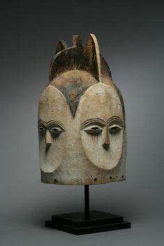 A Kwele helmet mask, ngongtanga