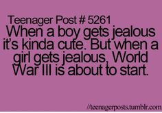 Oh yeah, so true! With guys it's super cute but with girls you better get your shield