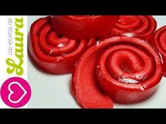 Postre sin horno, solo 3 ingredientes - Rollitos de Gelatina con Malvavisco - YouTube
