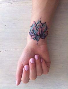 Elegent Lotus Tattoo Designs