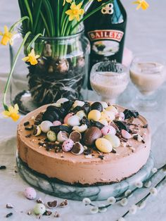 Baileys Cheesecake, Acai Bowl, Camembert Cheese, Tart, Sweet Tooth, Food Photography, Easter, Baking, Breakfast