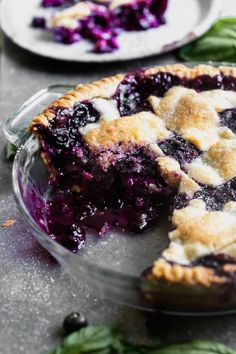 Blueberry Goat Cheese, Easy Blueberry Pie, Summer Pie, Pie In The Sky, Fruit Pie, Culinary Arts, Summer Desserts, Goats, Basil
