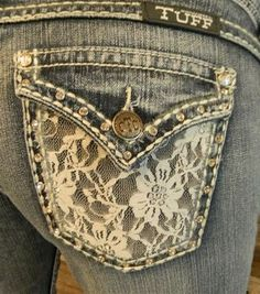 Cowgirl Tuff Lacy Cream Jeans- LOVE these! Would rather wear these for my rehearsal dinner than a dress!
