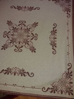 Embroidery Monogram, Cross Stitching, Cross Stitch Patterns, Diy And Crafts, Lassi, Boarders, Projects, Tablecloths, Runners