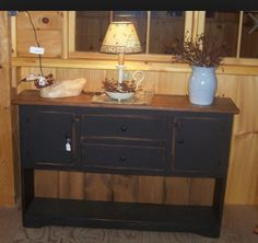 Primitive furniture | I really want a sofa table like this!