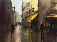 Uppsala, Watercolor, Painting, Art, Watercolor Painting, Pen And Wash, Art Background, Painting Art, Kunst
