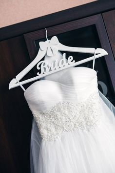Bridal gown hanger bmbellished with rhinestones by One World ...