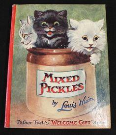 Louis Wain Cats, Welcome Gif, Dog Cuddles, Cute Cats Photos, Cat Sketch, Children Books, Cat Stuff, Kitty Cats, Cat Art