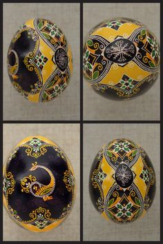 Pysanka, Pysanky Easter Egg by Oleh K. I love black and yellow together.