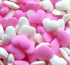 Pink and white candy hearts
