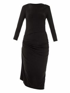 Melita drape front jersey dress