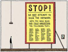 Museum Signs: Intimidating