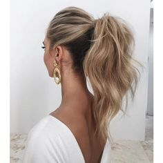 Weddings Fashion Love Couture: This high ponytail is everything ?... ❤ liked on Polyvore featuring accessories, hair accessories, hair and love couture