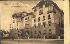 Budapest Városliget 1914, a régi Liget szanatórium mellett állt az Aréna úton