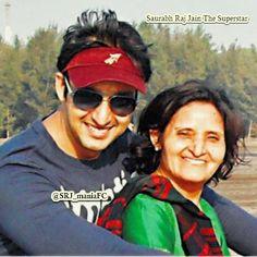 Saurabh Raj Jain With his Mother
