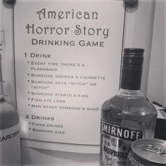 American Horror Story Drinking Game.... Hell yes! So playing this on Wednesday :)