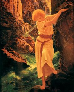 """Girls On Rocks"""" – Art and Illustration from Maxfield Parrish ..."""