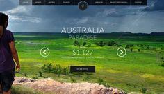 Travel web by Tomas Zeman, via Behance