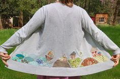 Simply Plain Jane made this great up- cycled cardi! DIY Tutorial