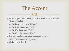 How to learn a Boston accent - Quora
