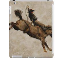 Bucking Bronco Rodeo Man iPad Case/Skin