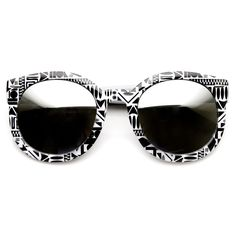 Indie Womens Oversize Native Print Flash Revo Lens Round Sunglasses 9380