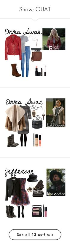"""""""Show: OUAT"""" by morgan-graves ❤ liked on Polyvore featuring H&M, Miss Selfridge, MuuBaa, Rachel Roy, YMC, Forever 21, Once Upon a Time, Fat Face, Steve Madden and Merona"""