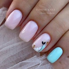 amazing nail designs ideas for short nails to try page 31 ~ my. - amazing nail designs ideas for short nails to try page 31 ~ my. Stylish Nails, Trendy Nails, Cute Acrylic Nails, Cute Nails, Hair And Nails, My Nails, Feather Nails, Minimalist Nails, Square Nails
