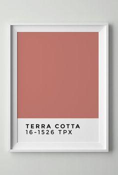 terracotta color pink blush pantone reference -log deco-clem around the corner color chart table pink tones 16 1526 tpx white frame Pantone, Rustic Bedroom Design, Interior Design Living Room, Colour Pallete, Colour Schemes, Wall Colors, House Colors, Deco Rose, Blog Deco