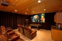 Private Home Theater  •Leather Theater Recliners   •Surround Sound