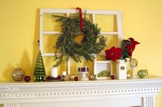 So beautiful! Wonder what I could use instead of a mantel...
